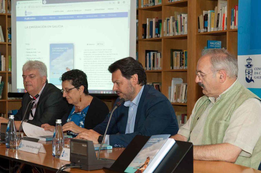 Xosé Manoel Núñez Seixas, Rosario Álvarez, Antonio Rodríguez Miranda y Ramón Villares.