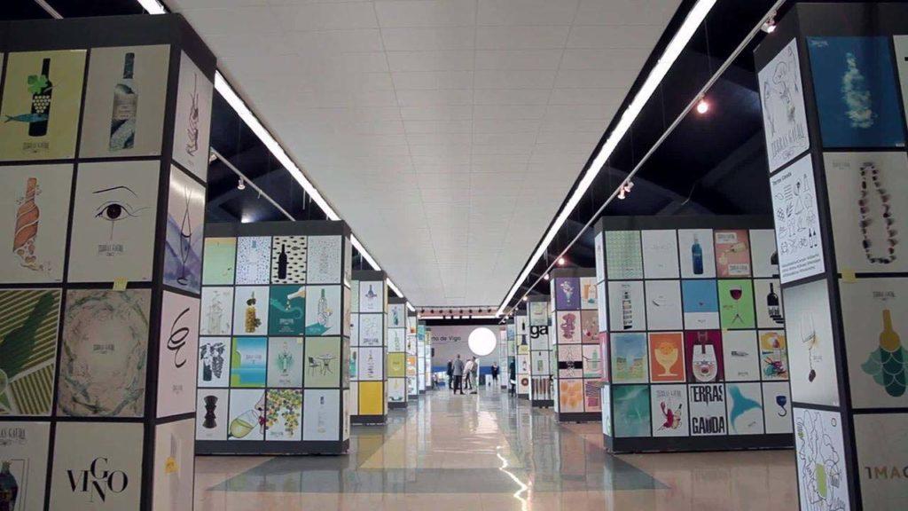Exposición de carteles presentados a la última edición del certamen de Terras Gauda.