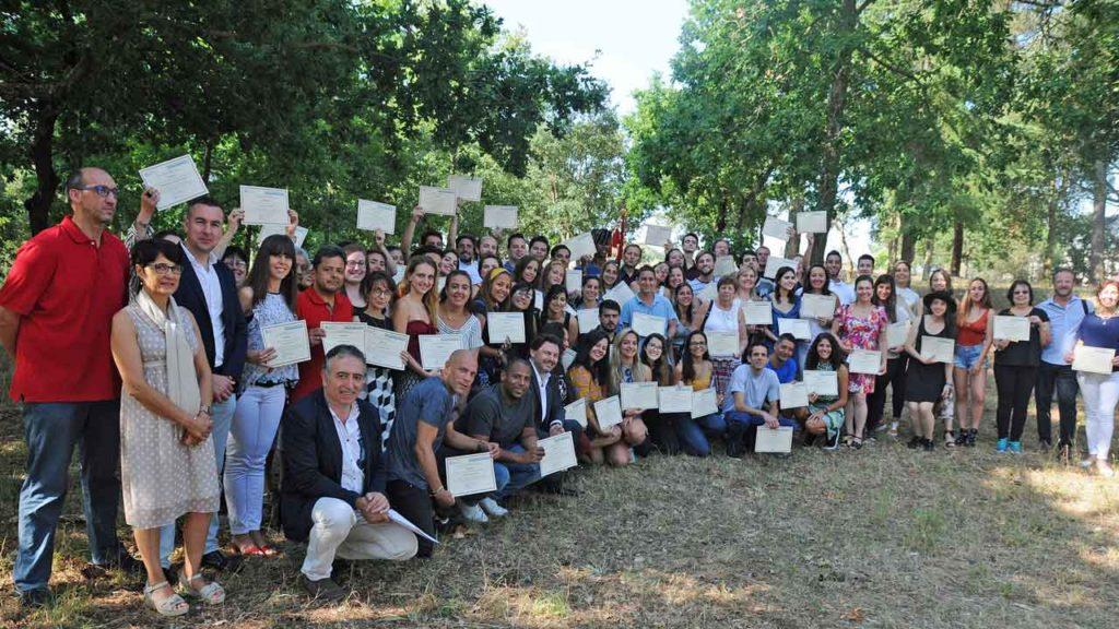 Rodríguez Miranda con los participantes en Escolas Abertas 2019.