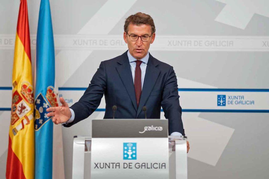 Alberto Núñez Feijóo presentó el anteproyecto de la nueva Ley de acción exterior de Galicia.