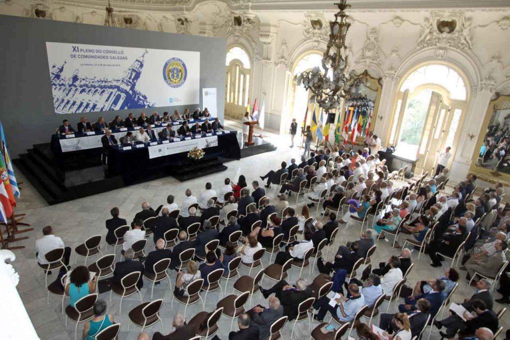 Imagen del XI Pleno del Consello de Comunidades Galegas celebrado en La Habana en mayo de 2016.