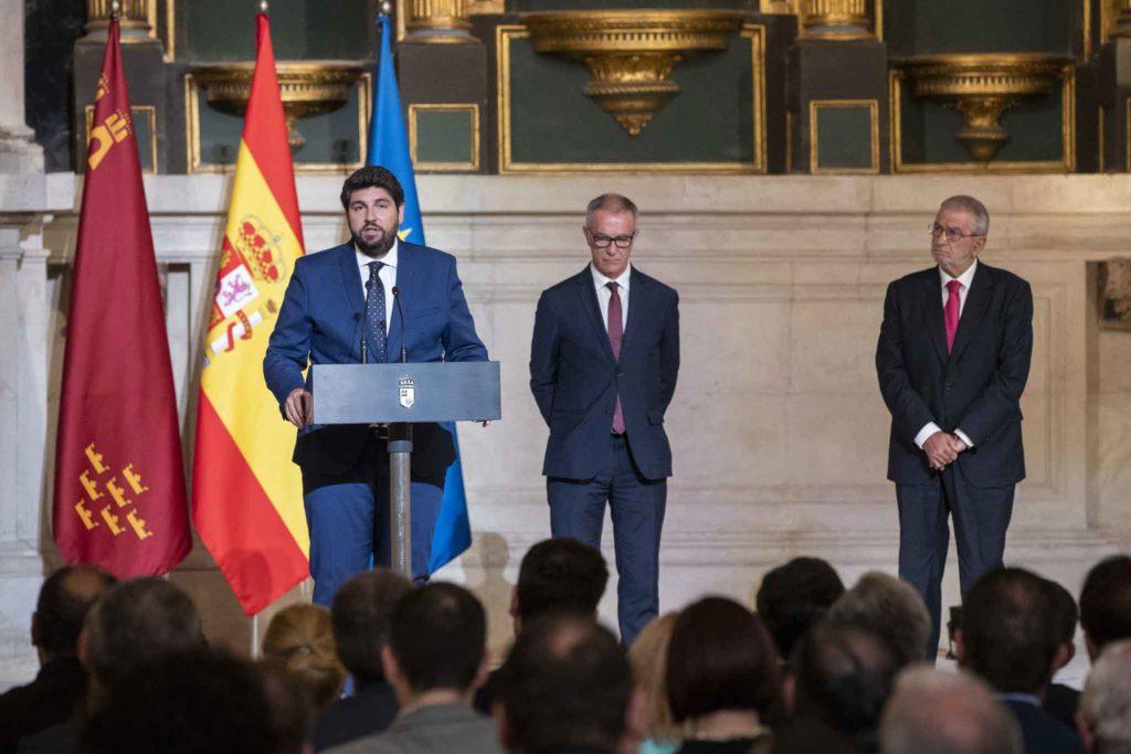 Fernando López Miras, durante su discurso de toma de posesión como presidente de la Región de Murcia.