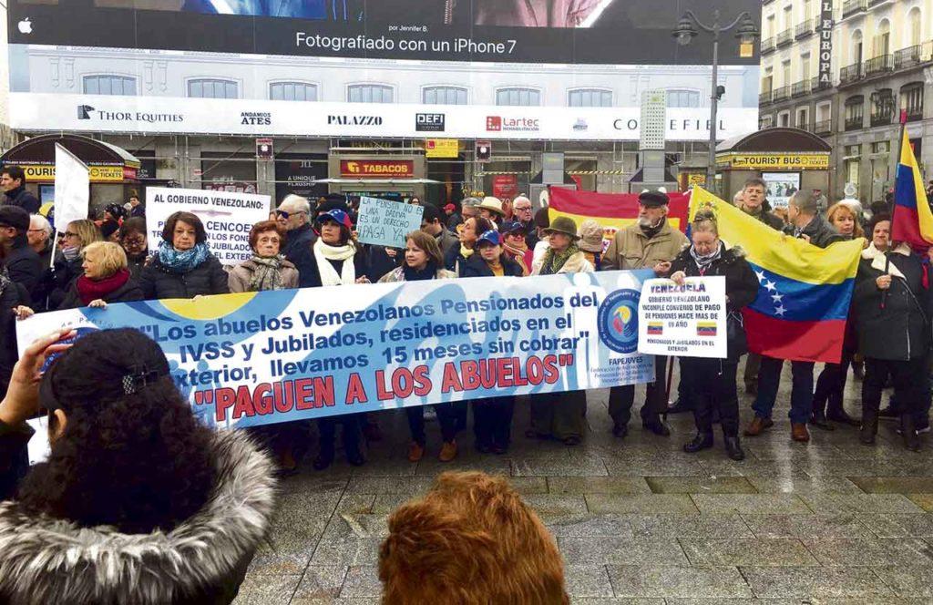 Una de las movilizaciones de la Fapejuves desarrolladas en Madrid para forzar soluciones al problema.