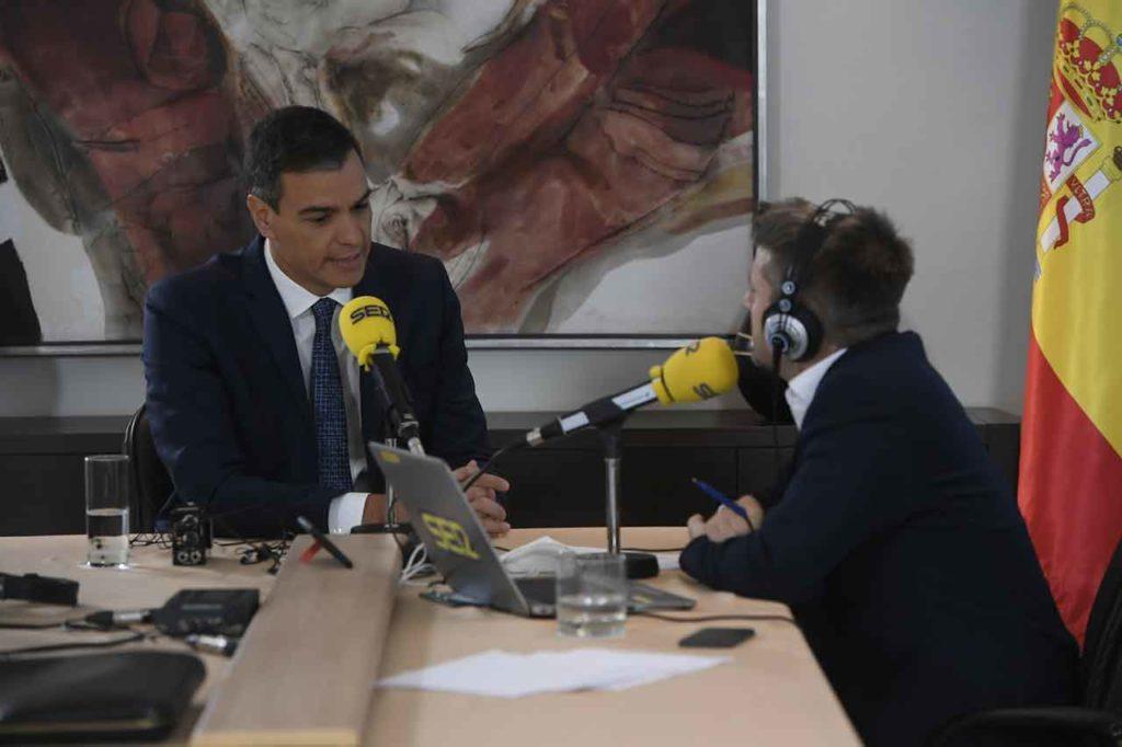 Pedro Sánchez, durante su entrevista en la Cadena Ser.