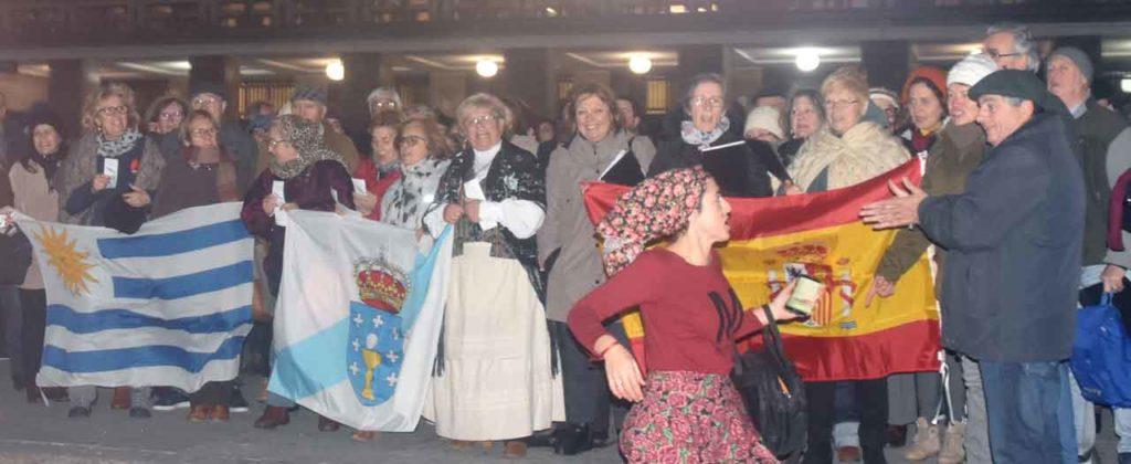 Los celebrantes en la Intendencia.
