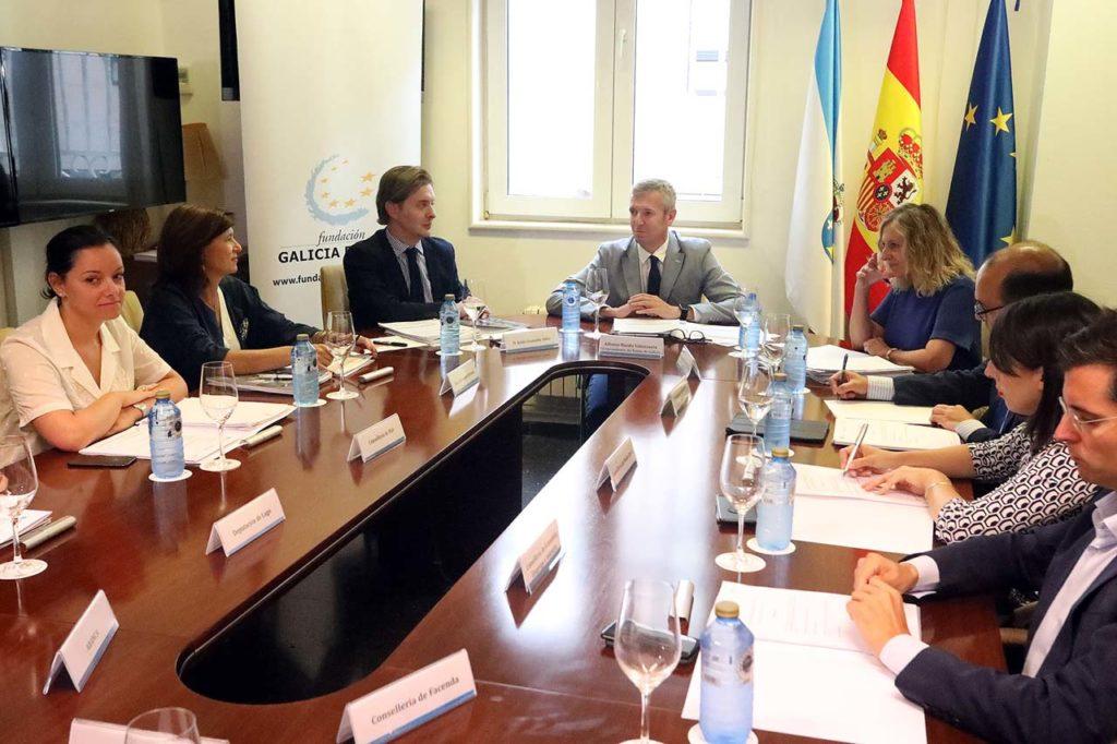 El vicepresidente de la Xunta, Alfonso Rueda, presidió la reunión del patronato de la Fundación Galicia Europa.