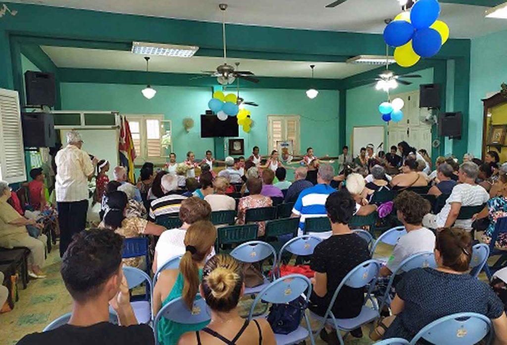 Celebración de la Fiesta de San Roque en el Club Villarino de La Habana.
