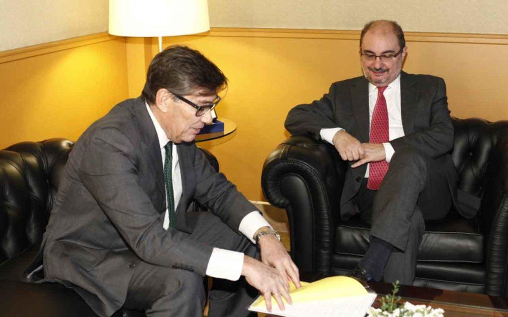Arturo Aliaga y Javier Lambán.