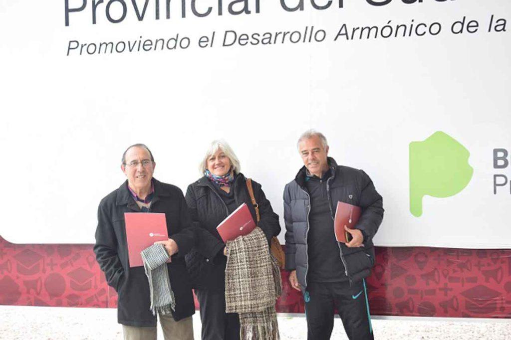 Miguel Herrero Domínguez, Silvia Benedetti y Néstor Herrero.
