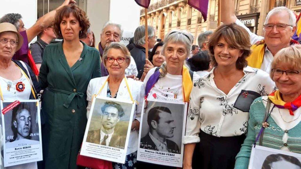 La ministra de Justicia en el homenaje en París a los soldados españoles de La Nueve.