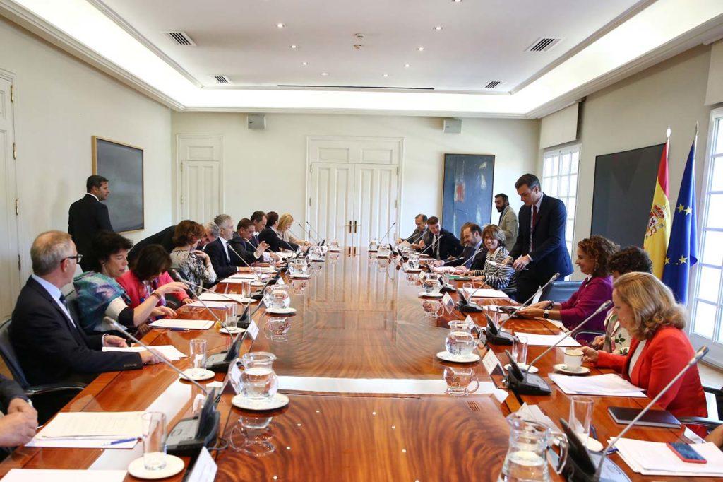 Pedro Sánchez presidió la reunión de la Comisión Interministerial para el Seguimiento del Proceso de Retirada del Reino Unido de la Unión Europea.
