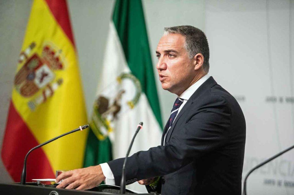 El consejero de la Presidencia, Administración Pública e Interior y Portavoz, Elías Bendodo, informó sobre los acuerdos del Consejo de Gobierno del pasado 3 de septiembre.