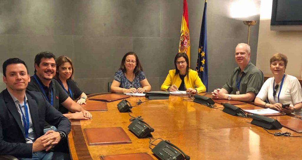 Con María Jesús Moro y Ana Vázquez del PP.