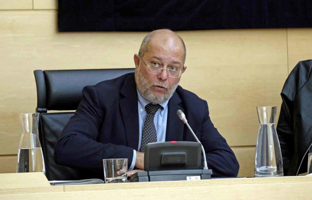 Intervención de Francisco Igea en las Cortes de Castilla y León.