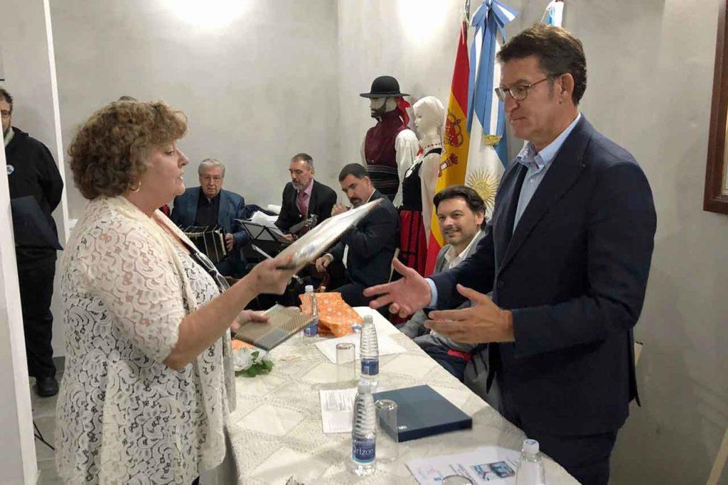 """Encuentro con la colectividad gallega de la Casa de Galicia """"Voces da nosa terra""""."""