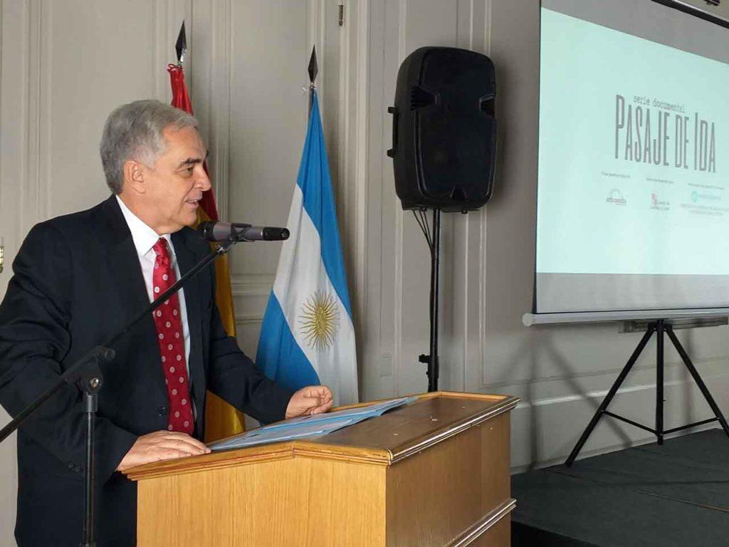 Intervención del embajador Javier Sandomingo.