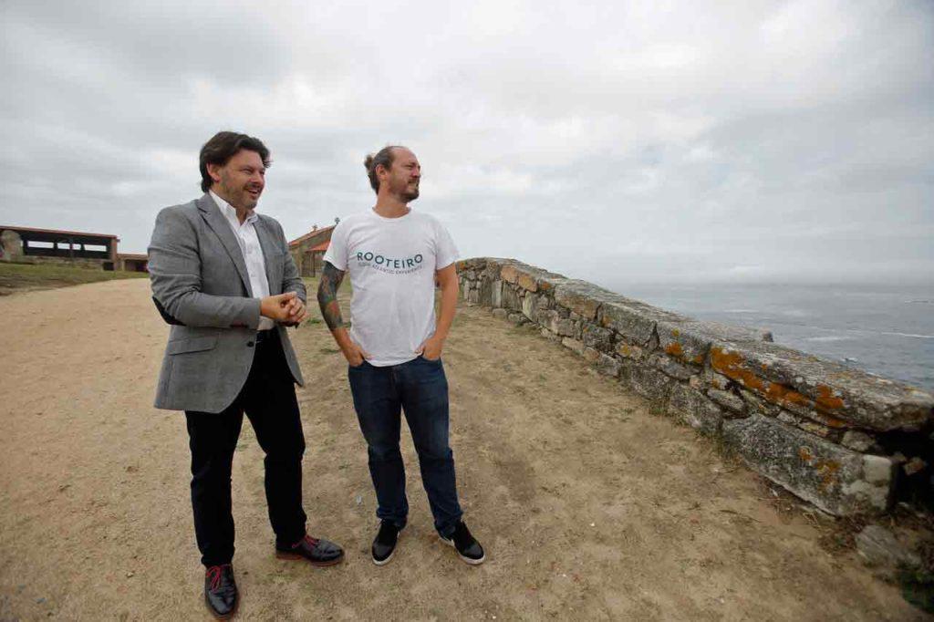 Rodríguez Miranda con Andrés Rodiño.