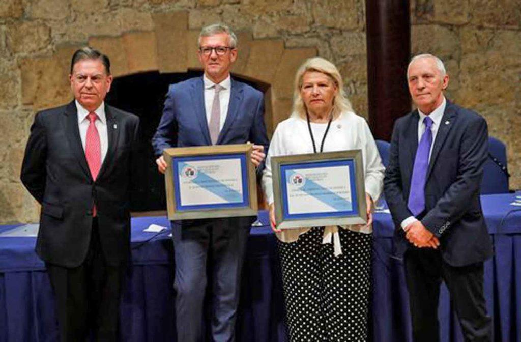 Alfredo Canteli, alcalde de Oviedo, Alfonso Rueda, María de los Ángeles Pedraza y Manuel Fernández Quevedo.