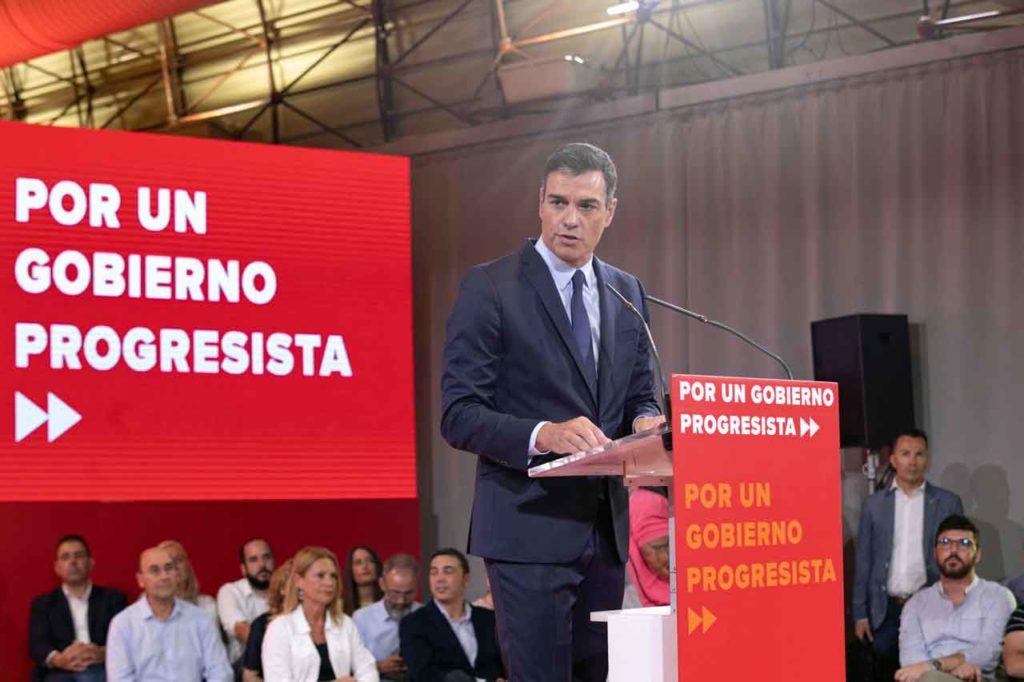 Pedro Sánchez en un momento de la presentación.