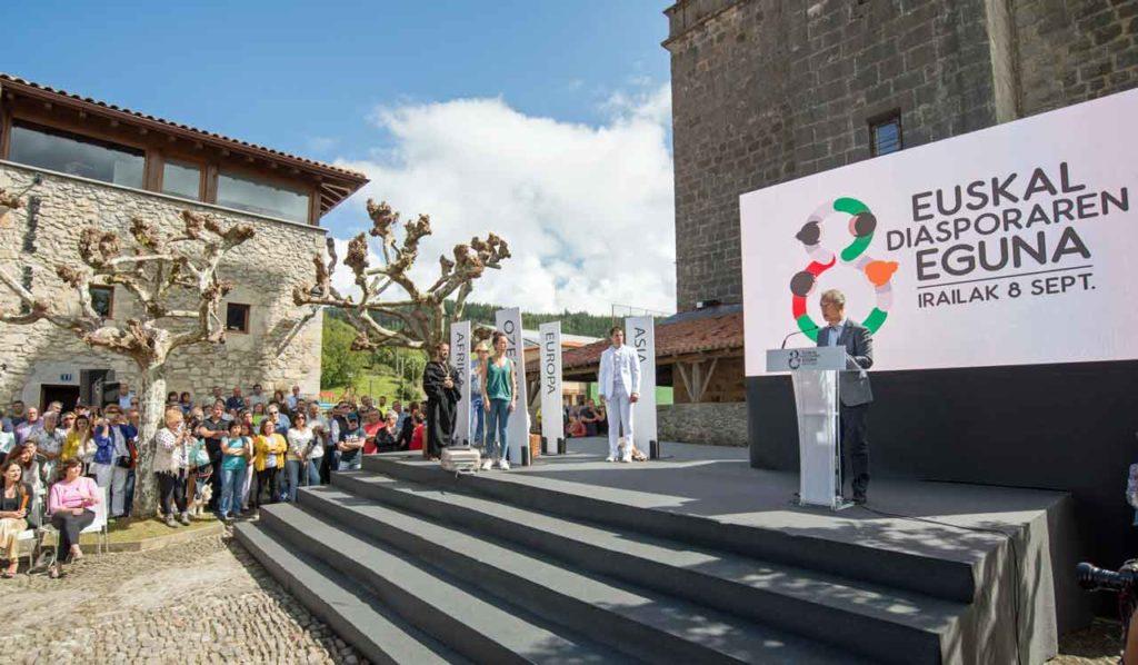 Intervención de Iñigo Urkullu en el acto de celebración del Día de la Diáspora Vasca.