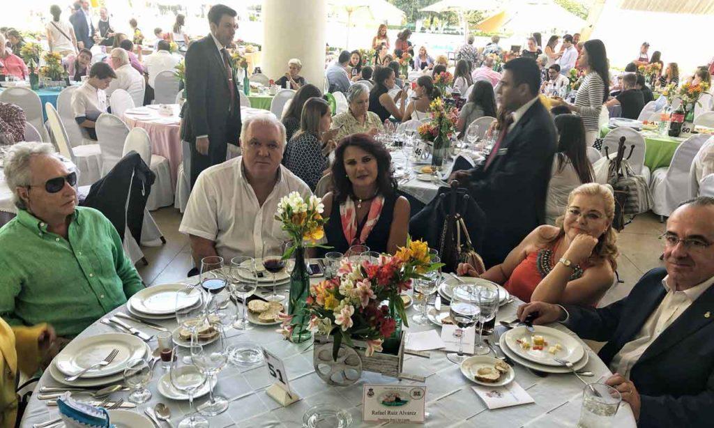 Presidente Rafael Ruiz y su esposa, Ana Solana.