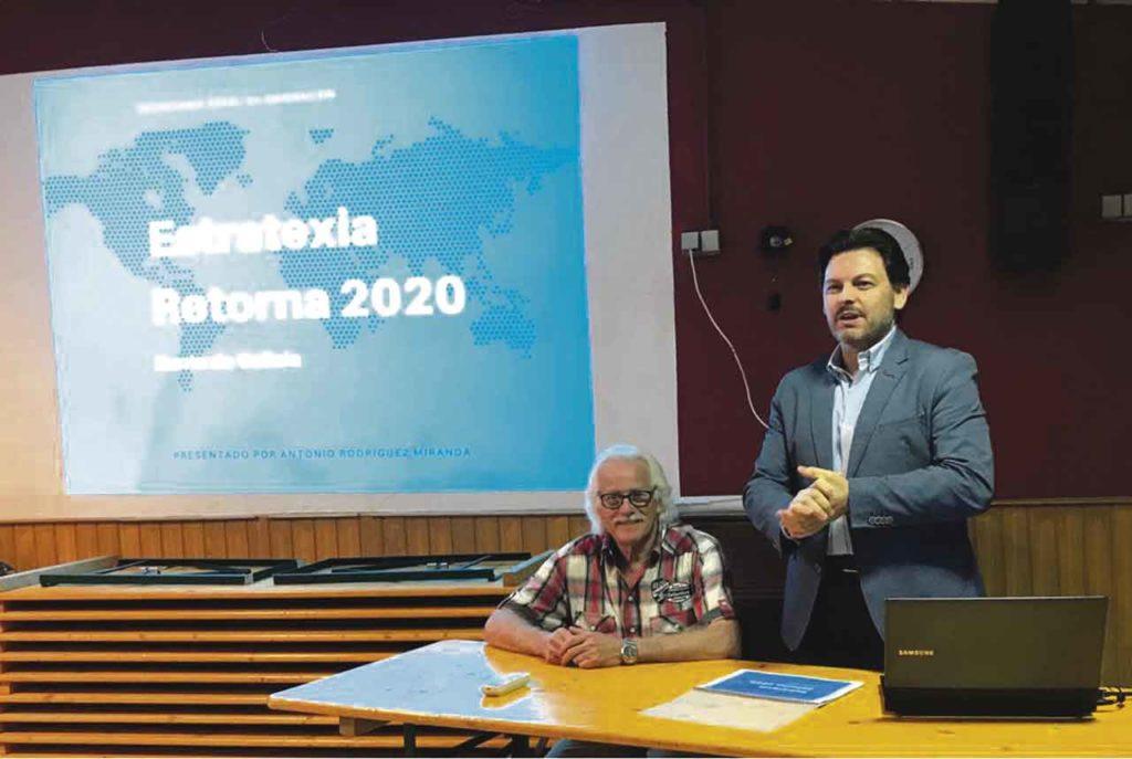 El secretario xeral da Emigración, Antonio Rodríguez Miranda, presenta en Nuremberg (Alemania), en abril de 2018, la Estratexia Retorna 2020.