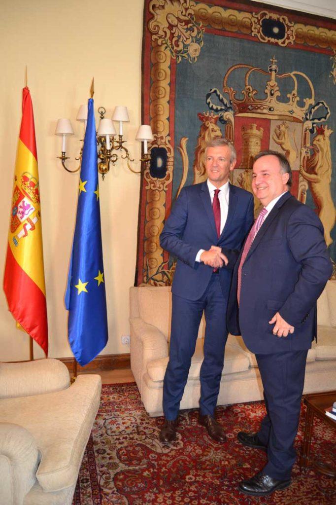 El vicepresidente Alfonso Rueda se reunió con el secretario general técnico del Ministerio de Asuntos Exteriores, Unión Europea y Cooperación, José María Muriel.