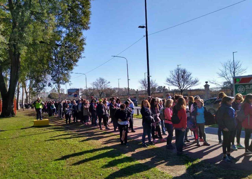 Un momento de la primera peregrinación del Camino de Santiago en Argentina.