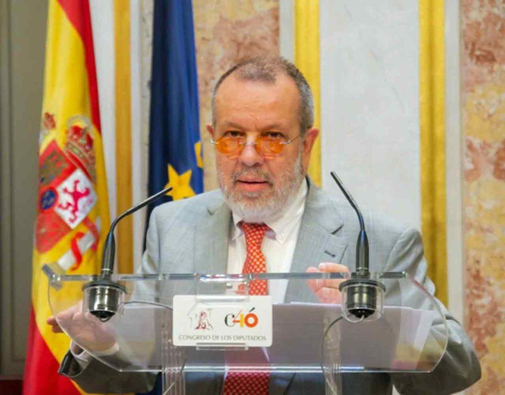 Francisco Fernández Marugán en una comparecencia en el Congreso.