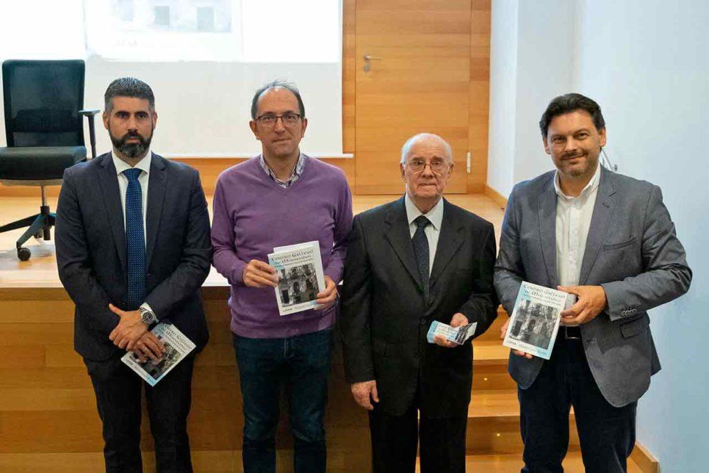 Fernando Pérez, del Consulado uruguayo, Anxo Lorenzo, Manuel Rocha y Antonio Rodríguez Miranda.