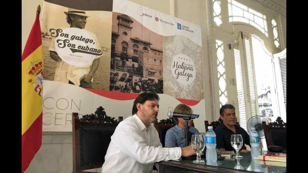 Rodríguez Miranda en un momento de la rueda de prensa.