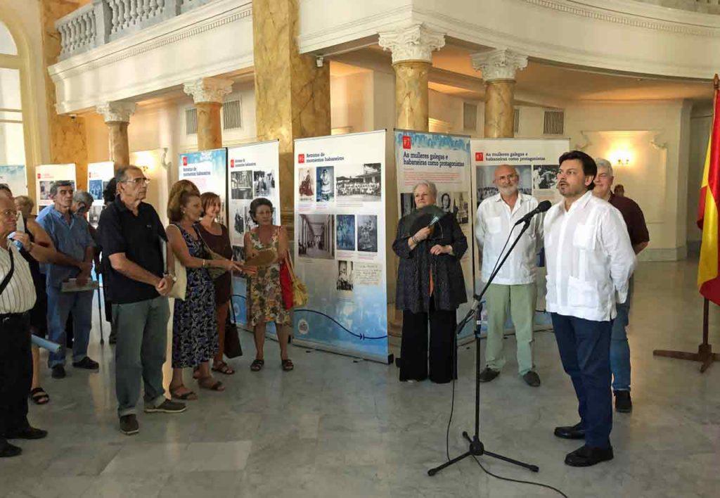 Intervención de Antonio Rodríguez Miranda en la inauguración de la muestra.