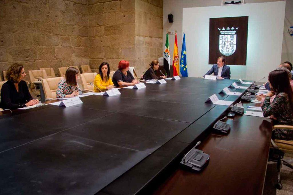 Una reunión del Consejo de Gobierno de la Junta de Extremadura, presidido por el Guillermo Fernández Vara.