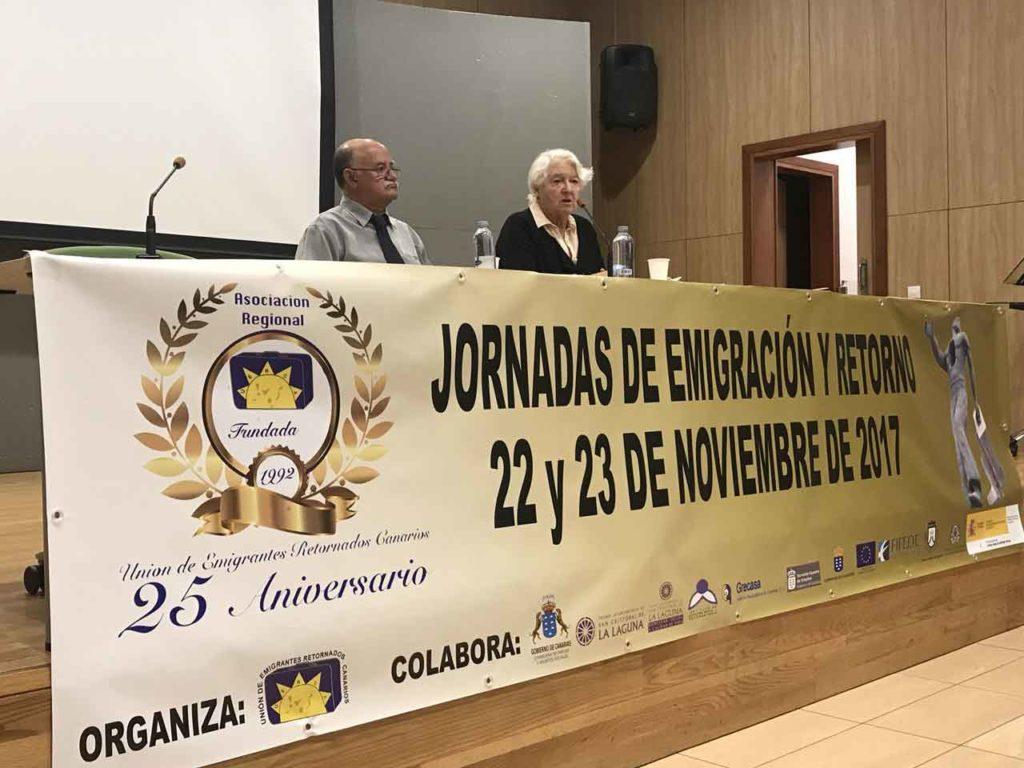 Jornadas de emigración y retorno organizadas por la Unión de Emigrantes Retornados Canarios en 2007, con motivo de su 25 aniversario.