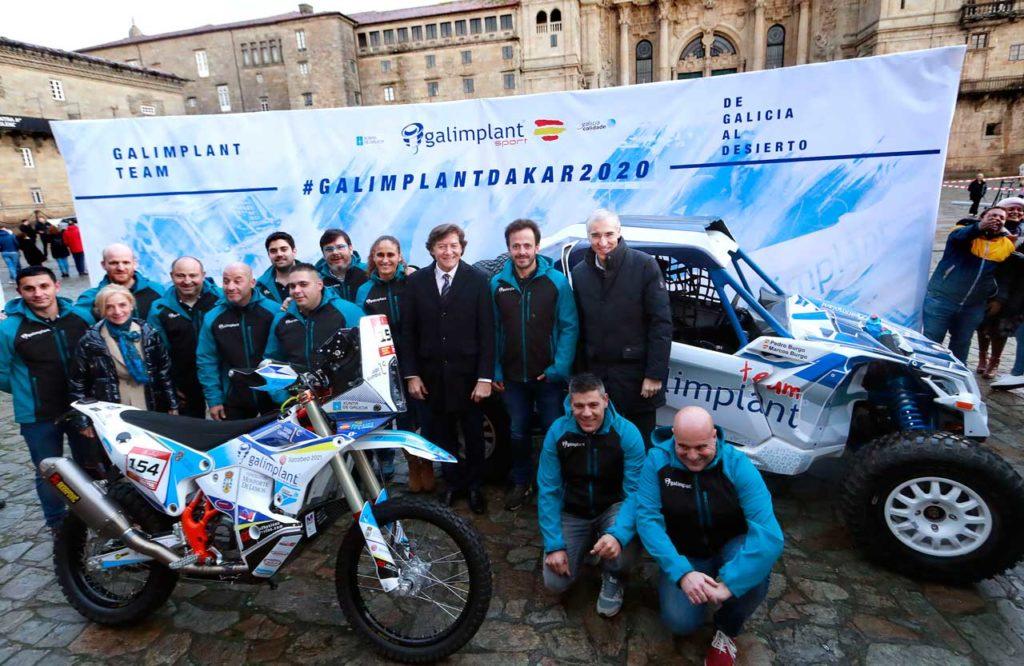 Francisco Conde y José Ramón Lete, en la presentación del equipo para el Dakar.