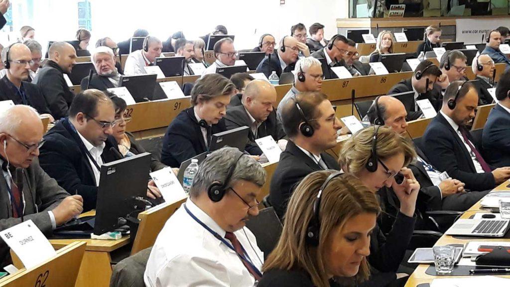 Gamallo, en la reunión de la Comisión de Recursos Naturales (NAT) del Comité Europeo de las Regiones (CdR).