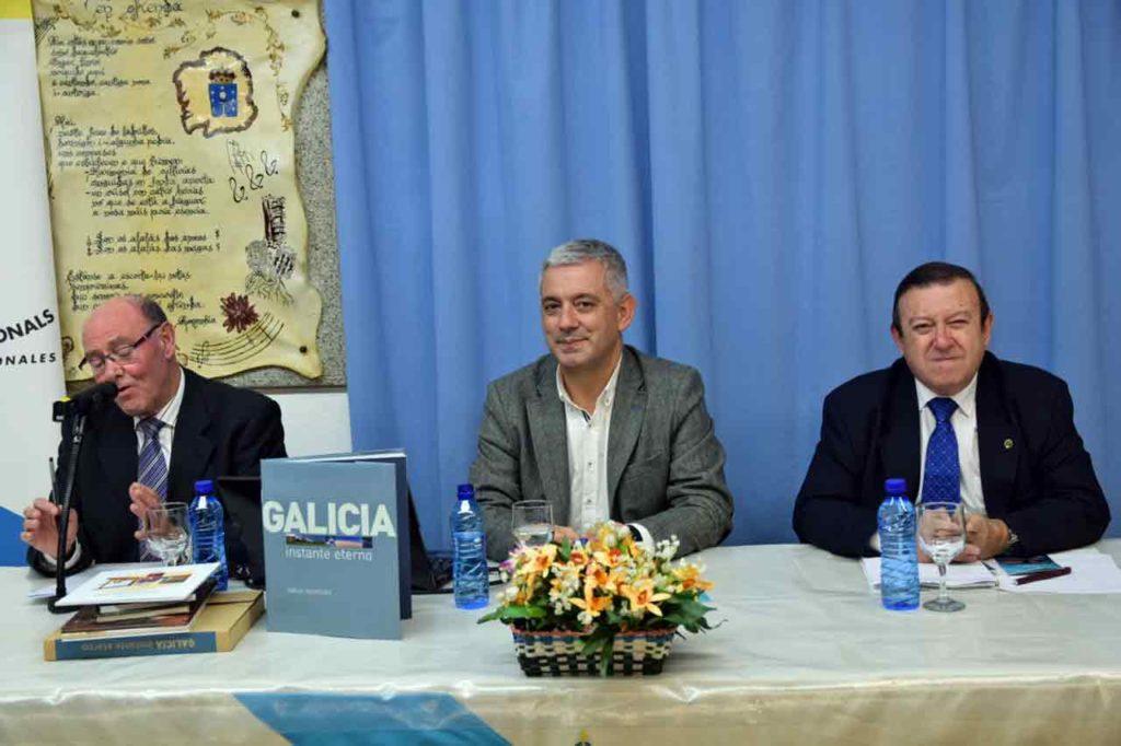 El secretario xeral de Política Lingüística durante el acto.
