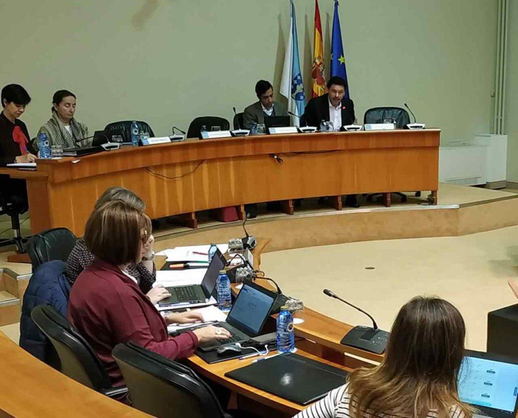 Comparecencia de Rodríguez Miranda en el Parlamento gallego.