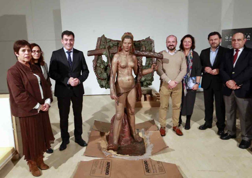 La obra de Asorey fue prestada por Casa de Galicia de Montevideo.