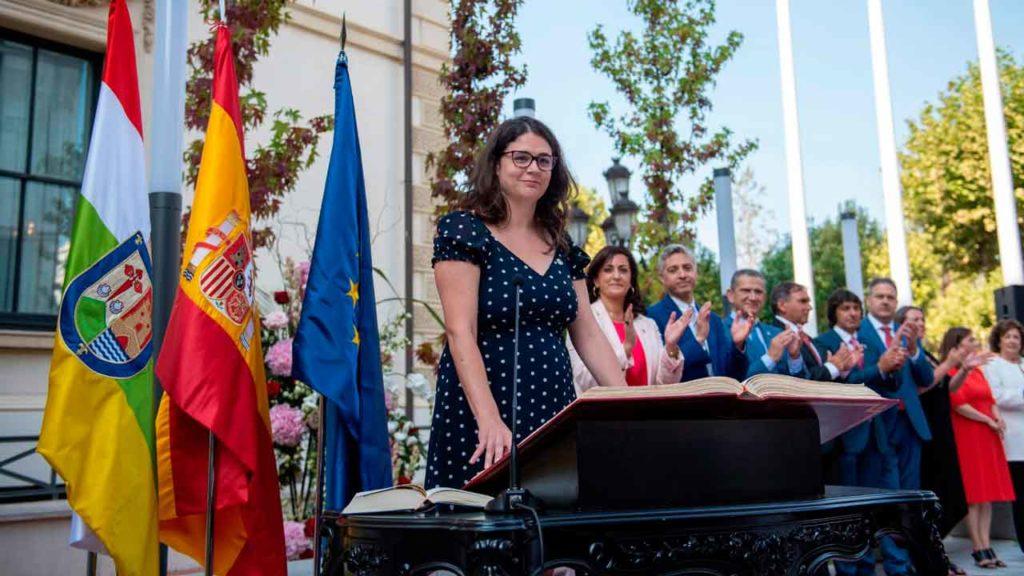 La consejera de Participación, Raquel Romero, en su toma de posesión.