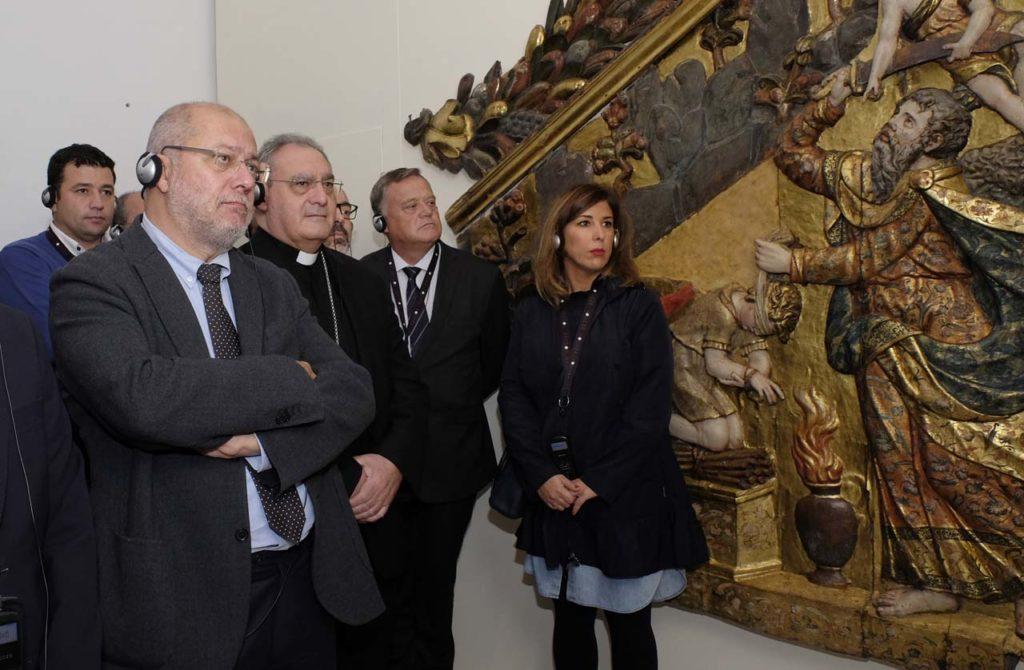 Igea, durante su visita en Lerma a la exposición 'Angeli' de Las Edades del Hombre.