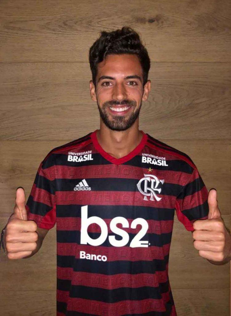 Pablo Marí, en su presentación como jugador de Flamengo.