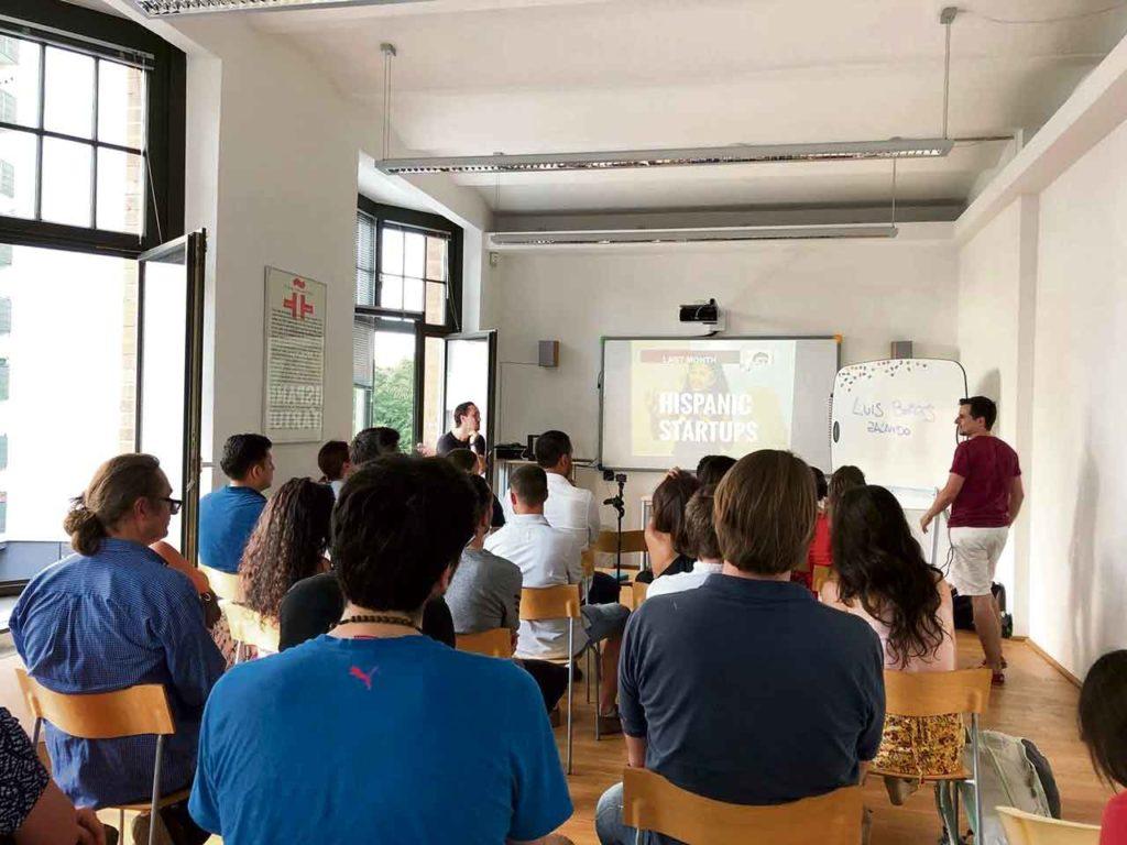 Un encuentro de Hispanic Startups (empresas emergentes) en el Instituto Cervantes de Berlín.