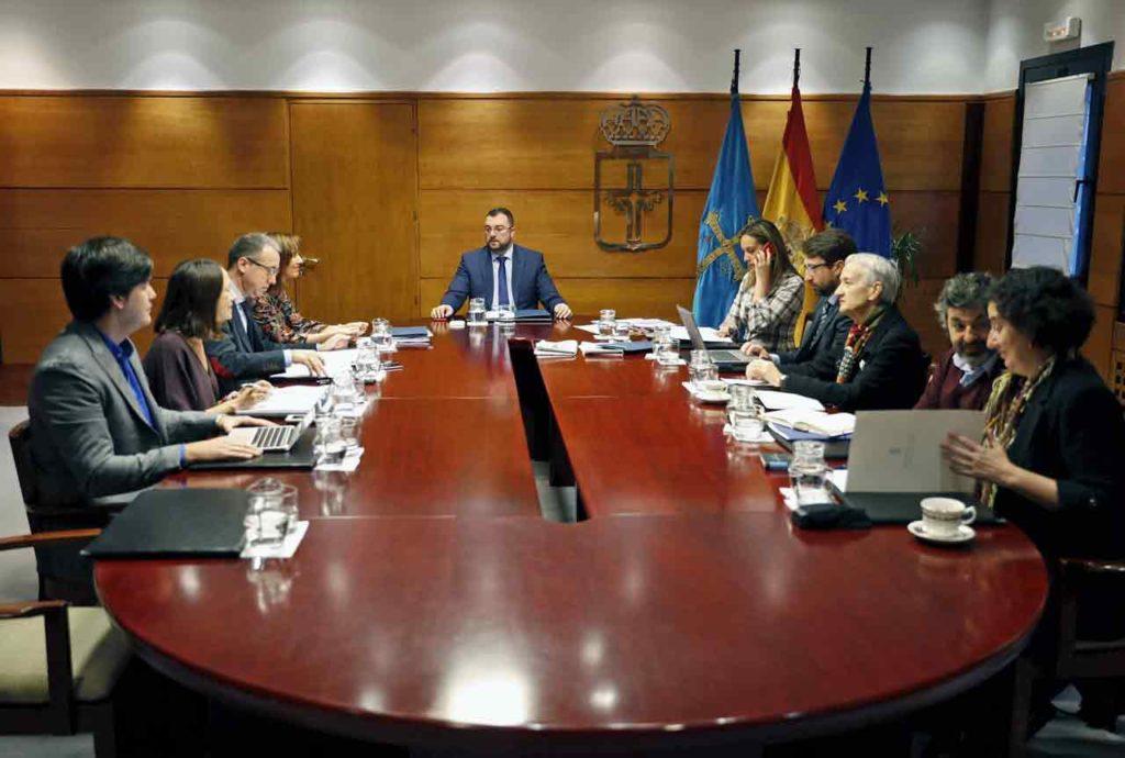 Reunión del Consejo de Gobierno del Principado de Asturias del pasado 5 de diciembre.