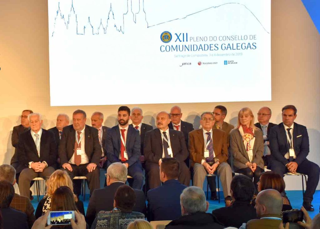 La nueva Comisión Delegada del Consello de Comunidades Galegas.