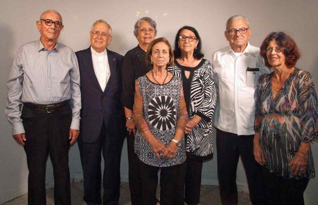 Los galardonados con el Reconocimiento 'Emigrante 500º aniversario de La Habana'.