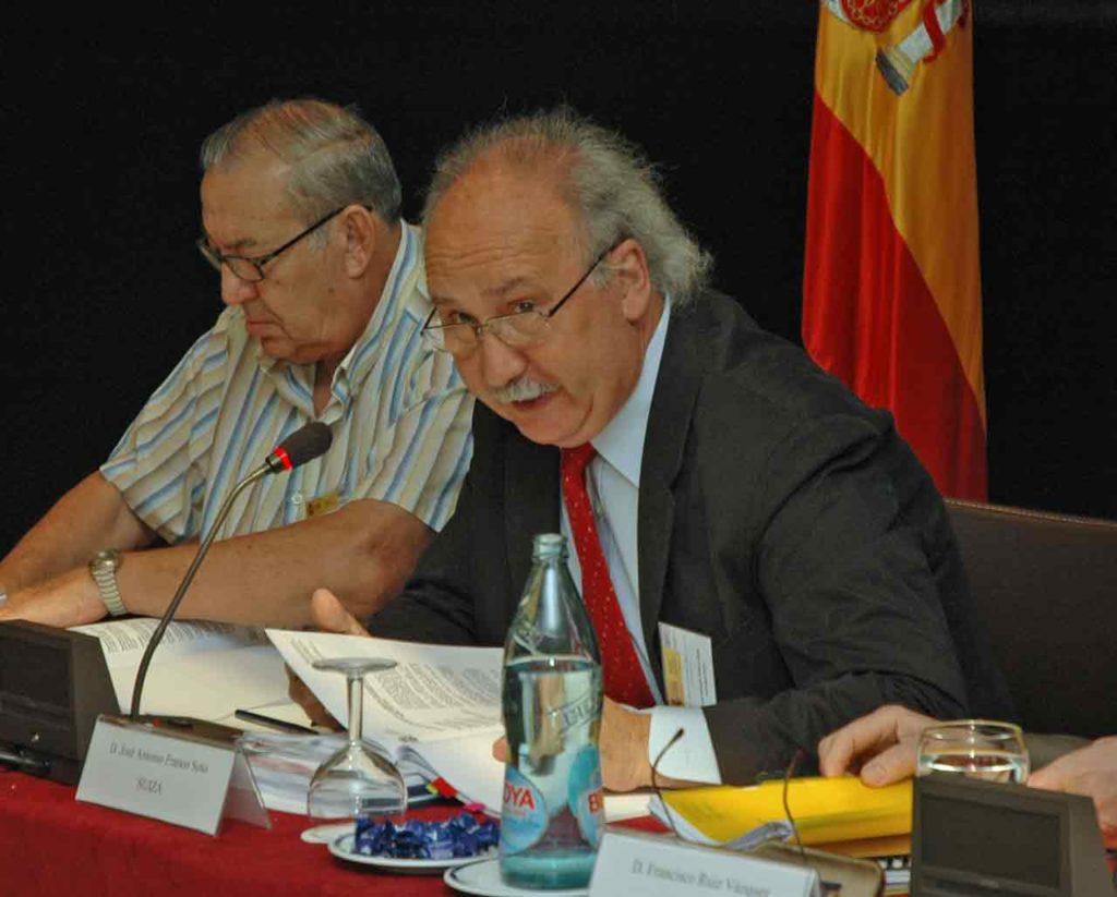 José Antonio Franco en un pleno del Consejo General de la Ciudadanía Española en el Exterior.