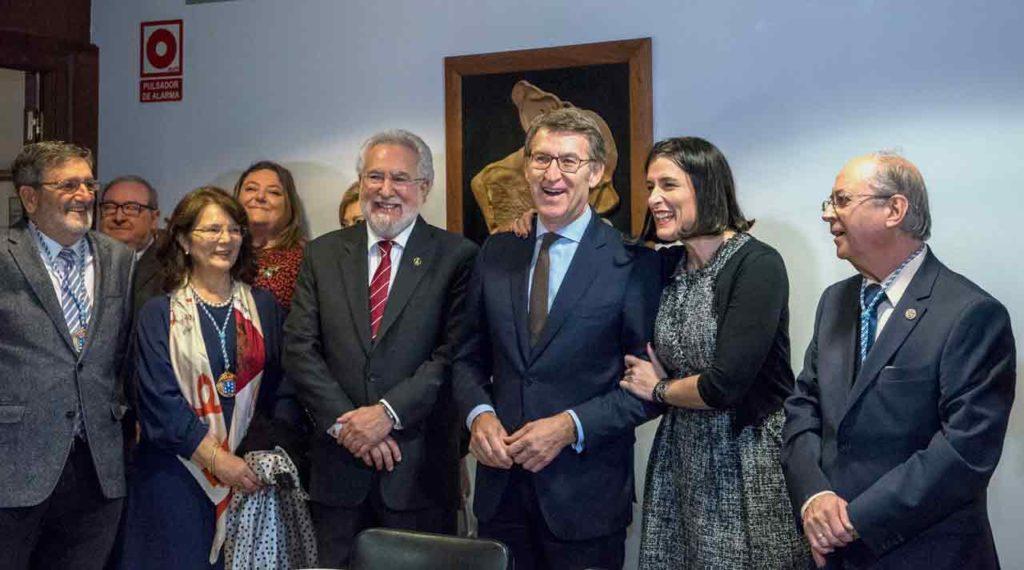 Miguel Ángel Santalices, Alberto Núñez Feijóo, Gema Igual y José Antonio Otero.
