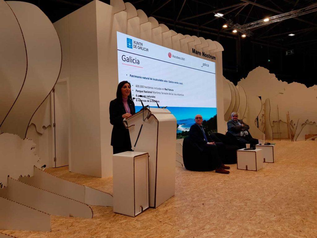 La conselleira de Medio Ambiente, Ángeles Vázquez, presentó la Estratexia Galega de Cambio Climático e Enerxía en la Cumbre Mundial del Clima en Madrid.
