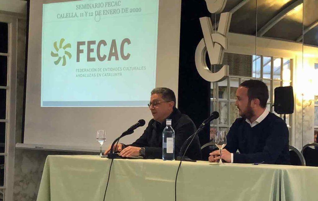 Enric Millo y Daniel Salinero durante la clausura del Seminario Fecac 2020.